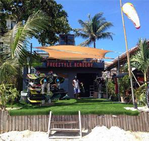 Outside view of Freestyle Kitesurfing School on boracay