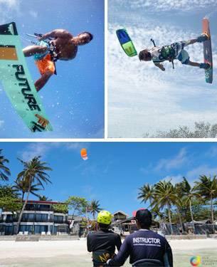 learning kitesurfing on boracay