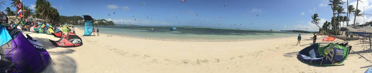 bulabog beach during ahimhan kitesurfing season